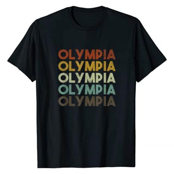 Olympia Washington Apparel Graphic Tshirt 1 Retro Olympia Washington T-Shirt
