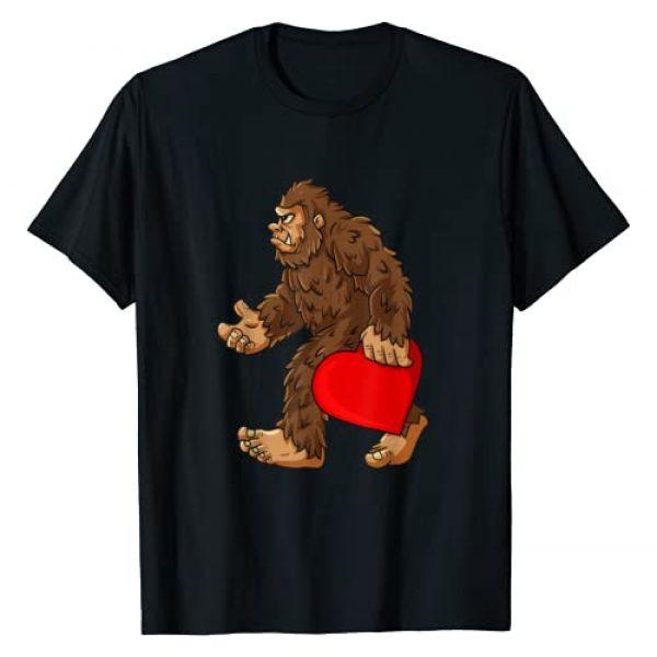 Mr Ben Valentines Day Graphic Tshirt 1 Bigfoot Heart Valentine's Day Boys Girls Kids Sasquatch T-Shirt