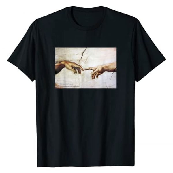 The Creation of Adam Shirt Shop Graphic Tshirt 1 The Creation of Adam by Michelangelo Classic Art Painting T-Shirt