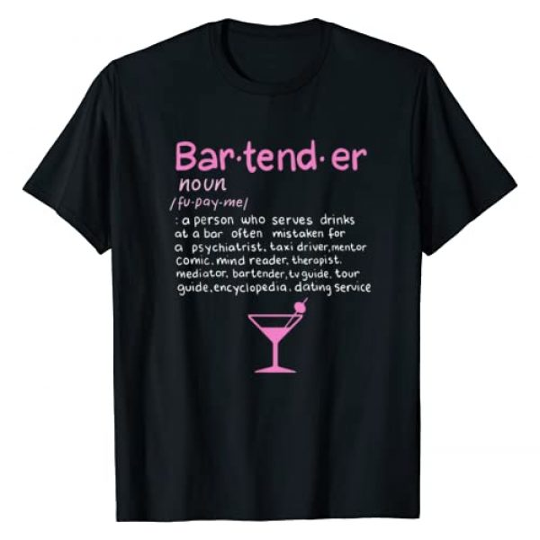 Funny Bartender definition T shirt and gift Graphic Tshirt 1 Bartender Noun Definition T Shirt Funny Cocktail Bar Gift T-Shirt