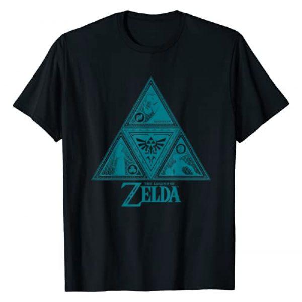 Nintendo Graphic Tshirt 1 Legend of Zelda Teal Triforce Symbolism Graphic T-Shirt