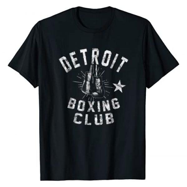 Boxing Club Shirts Graphic Tshirt 1 Retro Detroit Boxing Club - vintage distressed Boxer T-Shirt