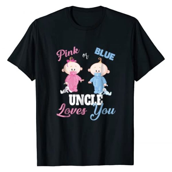 Baby Shower Party Shirts & Apparel Graphic Tshirt 1 Pink or Blue Uncle Loves You-Gender Reveal Shirt