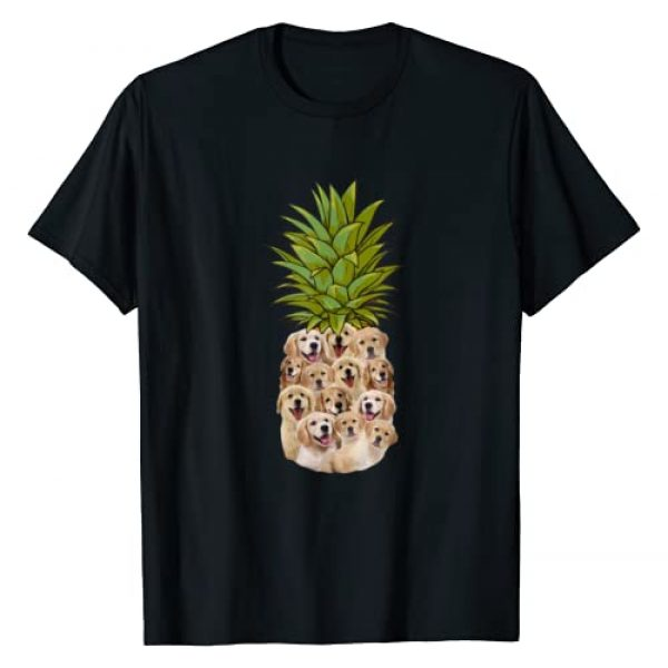 Golden Retriever Pineapple Cute Gift Dog Lover Graphic Tshirt 1 Cute Pineapple Golden Retriever Gifts Valentines Birthday T-Shirt