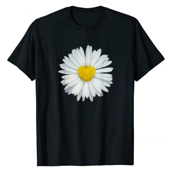 Electric Dreams Apparel Graphic Tshirt 1 White and Yellow Heart Daisy T-Shirt Flower Rave Tee