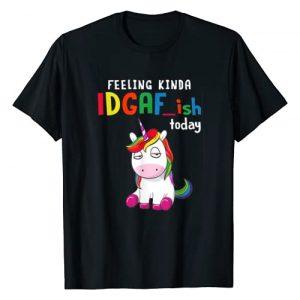 Feeling Kinda IDGAFish Today Funny Unicorn Graphic Tshirt 1 Feeling Kinda IDGAFish Today Funny Unicorn T-Shirt