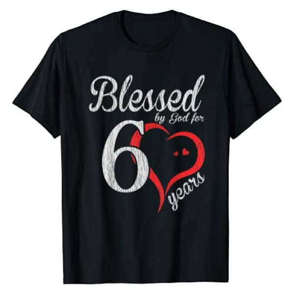 Birthday Gift Shop Graphic Tshirt 1 Vintage 60th Birthday Blessed By God, Happy Birthday Gift T-Shirt