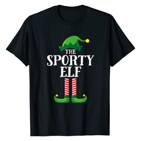 Elf Family Christmas Emporium Graphic Tshirt 1 Sporty Elf Matching Family Group Christmas Party Pajama T-Shirt