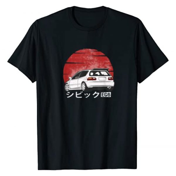 JDM Car Owners Gift for Men and Women Graphic Tshirt 1 Vintage Hatch Civic EG6 T-Shirt