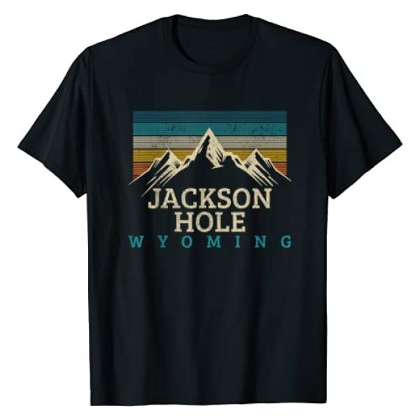 Jackson Hole Wyoming Souvenirs & Gifts Graphic Tshirt 1 Jackson Hole Wyoming Vintage Mountains Nature Souvenir Gift T-Shirt
