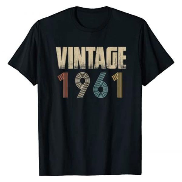 Retro Vintage Birthday Shirts Graphic Tshirt 1 Retro Vintage 1961 T-Shirt Born In 1961 Birthday Gift