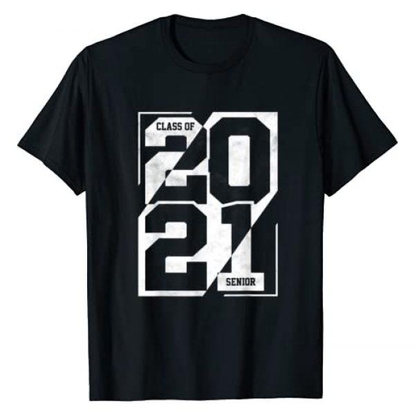 Bak2Basiks Apparel Co. Graphic Tshirt 1 Senior Class Of 2021 Shirt Graduation High School College T-Shirt