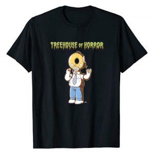 The Simpsons Graphic Tshirt 1 Treehouse of Horror Homer Donut Head Halloween T-Shirt