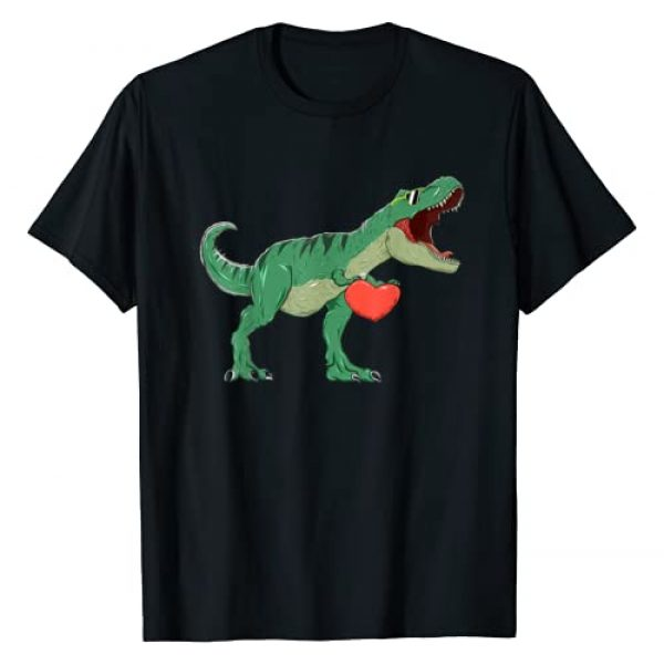 Dino Shirt February 14 Lovers Hearts Gift Tees Graphic Tshirt 1 Boys Valentines Day Shirt Kids T-Rex Dinosaur I Steal Hearts