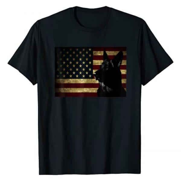 4th of July Patriotic German Shepherd Shirt Graphic Tshirt 1 Black German Shepherd shirt American Flag 4th July GSD Dog T-Shirt