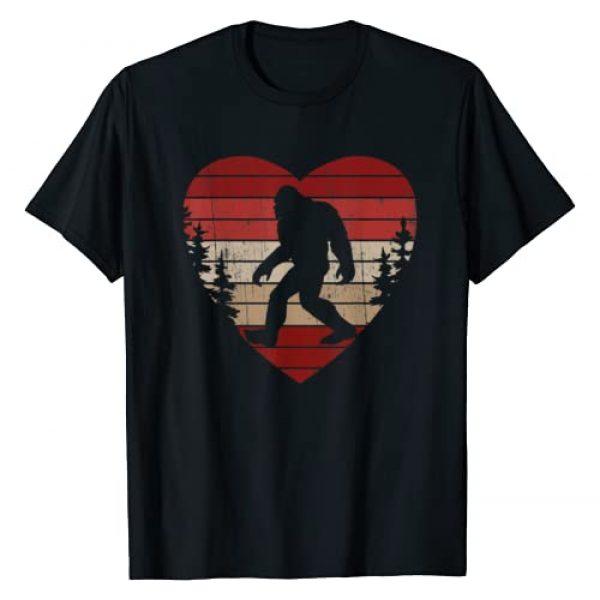 Bigfoot Valentines Day Apparel Graphic Tshirt 1 Bigfoot Heart Valentine's Day Boys Girls Kids Love Sasquatch T-Shirt