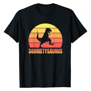 Sober AF - Sobriety Gifts For Men & Women Graphic Tshirt 1 Sobriety T-Rex - Alcoholics Anonymous AA Sober AF Gift T-Shirt