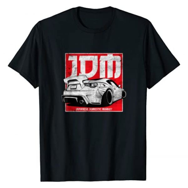 Retro Vintage Car Apparel Graphic Tshirt 1 JDM Badge Automotive Retro Race Wear Vintage Tuning Car T-Shirt