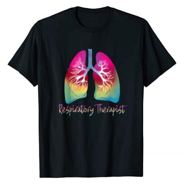 Respiratory Therapist 2019 Respiratory Care Week Graphic Tshirt 1 Respiratory Therapist Colorful Lungs Design T-Shirt