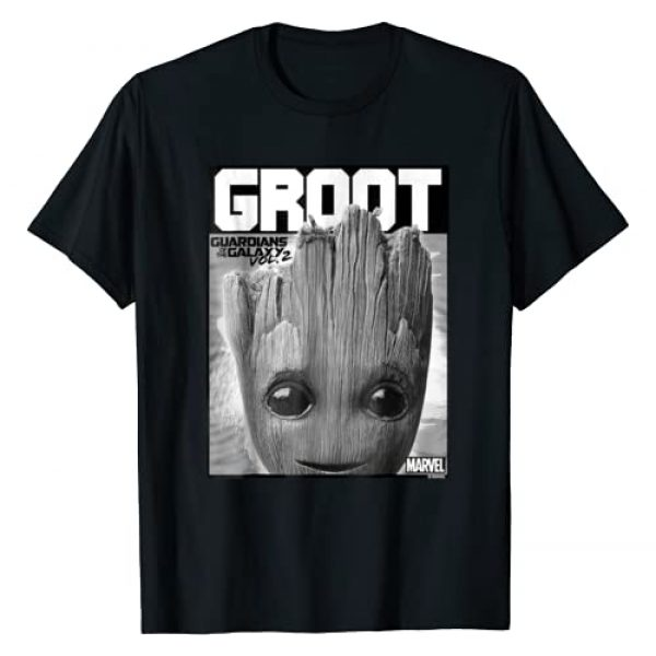 Marvel Graphic Tshirt 1 Guardians Vol. 2 Baby Groot Close-Up Graphic T-Shirt