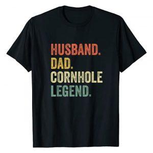Cornhole Champion Tshirt Co Graphic Tshirt 1 Mens Cornhole Shirt Vintage Funny Gift Husband Dad Legend T-Shirt