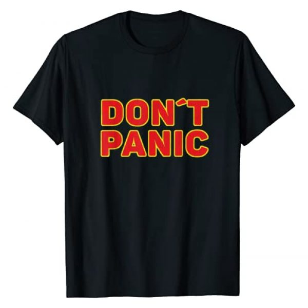 Don't Panic Vintage Distressed Funny quote Graphic Tshirt 1 Don't Panic Vintage Distressed sarcastic panicking gift T-Shirt