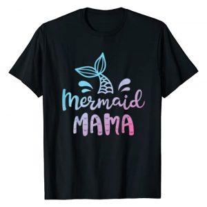 Mermaid Squad Co Graphic Tshirt 1 Mermaid Mama Funny Women Mom Mommy Family Matching Birthday T-Shirt