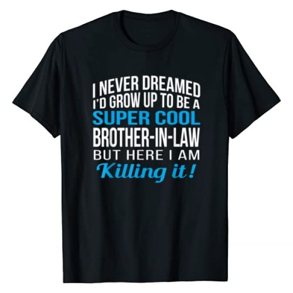 Brother Graphic Tshirt 1 Mens Super Cool Brother In Law Funny Gift T Shirt