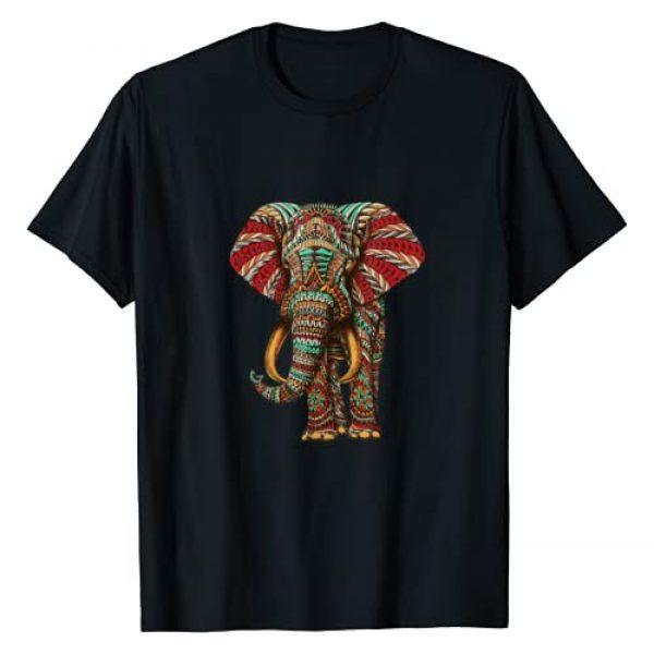 Animal Lovers Tee Co. Graphic Tshirt 1 Henna Stylish Artistic Save The Elephants | Wildlife T-Shirt