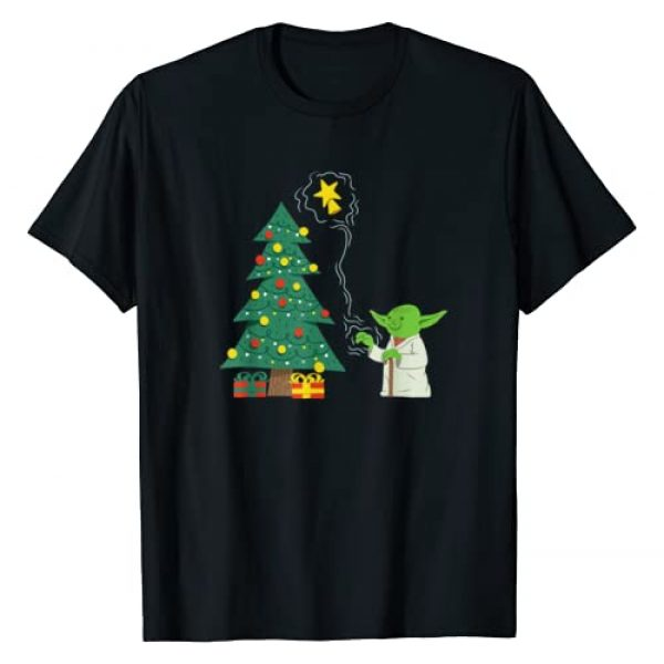 Star Wars Graphic Tshirt 1 Holiday Yoda Decorates Christmas Tree T-Shirt