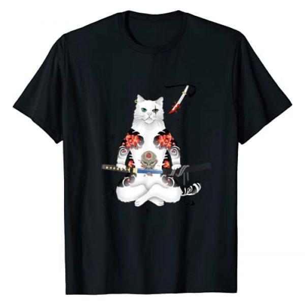 Check out my other Cat T-shirts Graphic Tshirt 1 Japanese Samurai Cat Katana Ninja Yakuza Tattoo T-Shirt