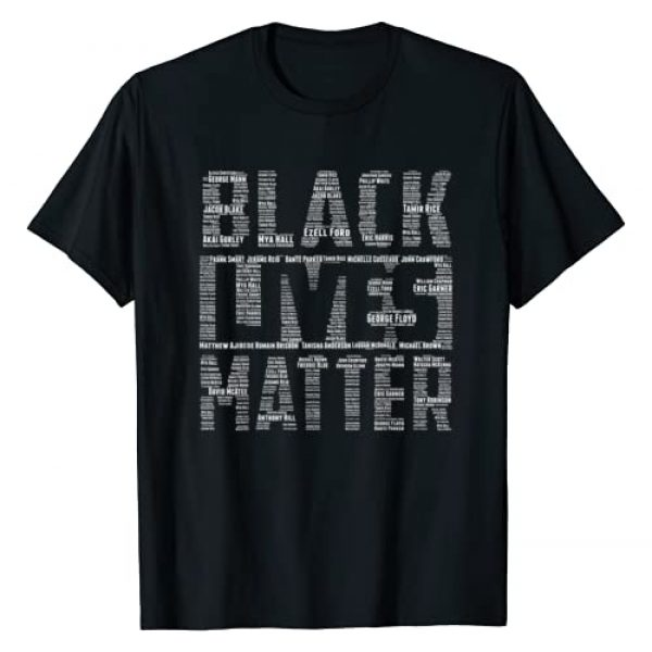 BLM Graphic TeezZ Graphic Tshirt 1 Black Lives Matter With Names Of Victims - BLM T-Shirt