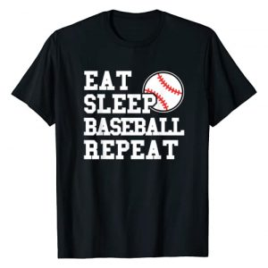 Baseball Fan Baseball Graphic Baseball Lover Gift Graphic Tshirt 1 Eat Sleep Baseball Repeat Funny Baseball Player T-Shirt