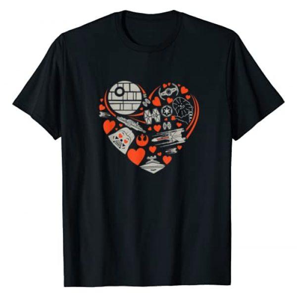 Star Wars Graphic Tshirt 1 Valentine's Day Heart Galaxy T-Shirt