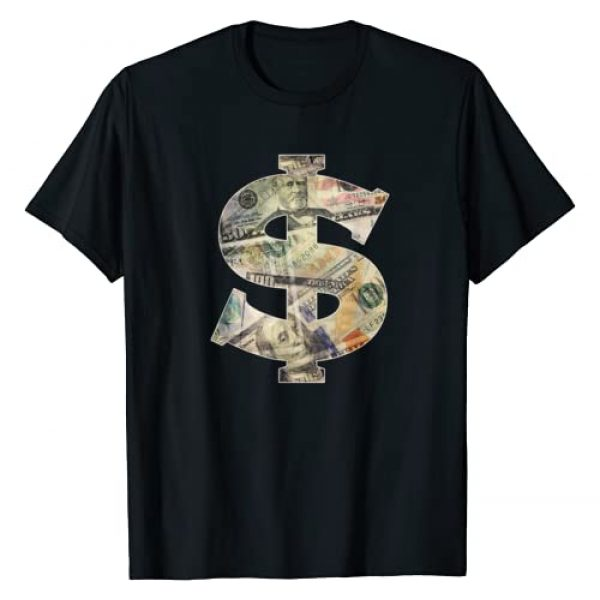 Dollar Sign Cool Money T-Shirt Graphic Tshirt 1 $ T-shirt
