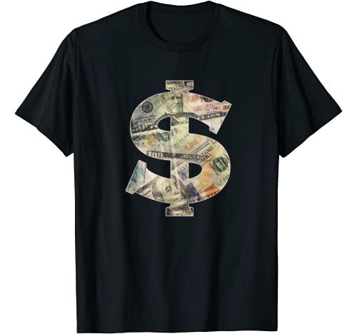 Dollar Sign Cool Money T-Shirt Graphic Tshirt 1 $ T-shirt