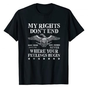 TapTee Cool Graphic Tshirt 1 My Rights Don't End Where Your Feelings Begin T-Shirt