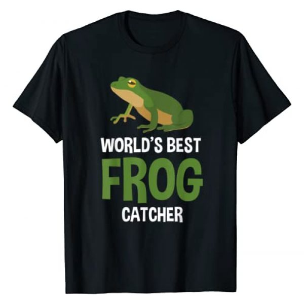 Special Gifts For Frog Lover & Frog Catcher Graphic Tshirt 1 World's Best Frog Catcher Gift Boys Girls Kids Frog Hunter T-Shirt