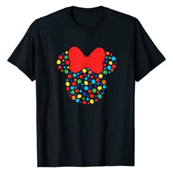Disney Graphic Tshirt 1 Minnie Mouse Polka Dot Rainbow T-Shirt