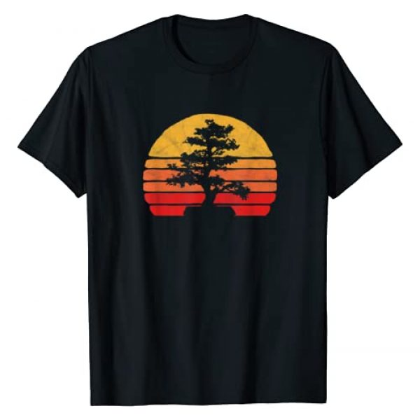 Mountain Life Outdoor Junkie Tees Graphic Tshirt 1 Retro Sun Minimalist Bonsai Tree Design Graphic T-Shirt