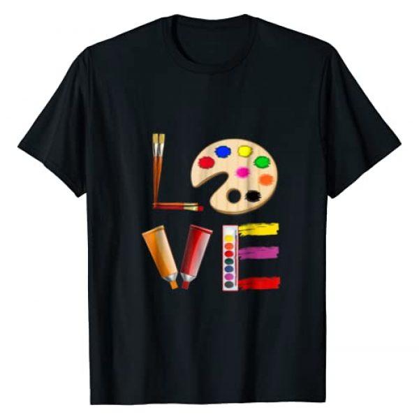 Art Teacher and Artist Shirts and Gifts Graphic Tshirt 1 Art Love Gift for Teacher Artist Painter T-Shirt