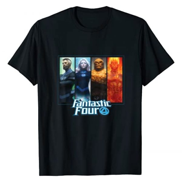 Marvel Graphic Tshirt 1 Fantastic Four Family Character Grid T-Shirt