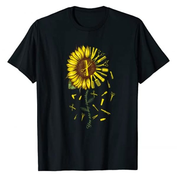 Hair Stylist Gift Apparel Graphic Tshirt 1 Hair Stylist Hair Dresser Barber You're Sunshine Sunflower T-Shirt