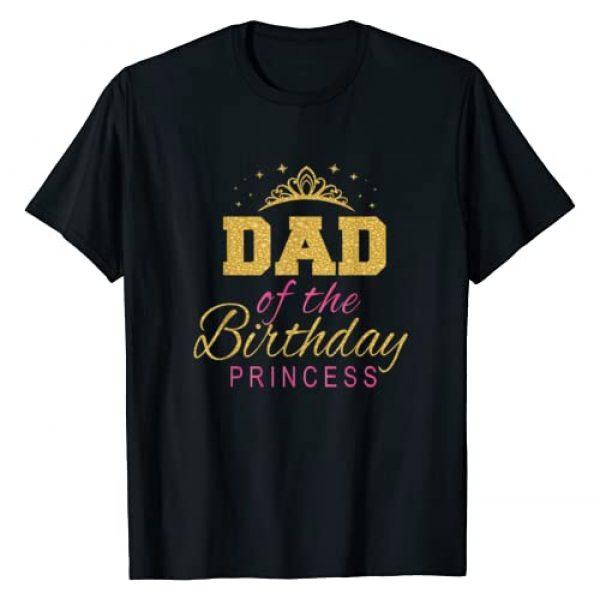 Keep Calm Birthday Gift Tee Shirts Graphic Tshirt 1 Dad Of The Birthday Princess Girls Party T-Shirt