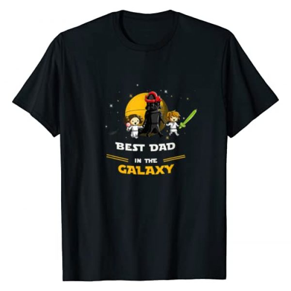 Cool family Graphic Tshirt 1 Father Daughter and Son - Best DAD in the galaxy T-Shirt
