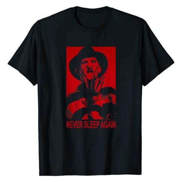 Warner Bros. Graphic Tshirt 1 Nightmare on Elm Street Freddy Never Sleep Again T-Shirt