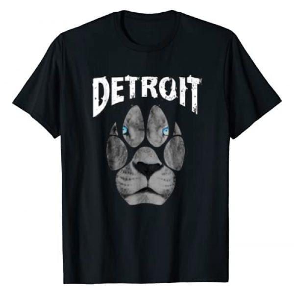 313 Dtees Graphic Tshirt 1 Detroit Football fans tshirt 313 (Lions) 2018