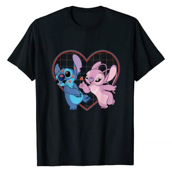 Disney Graphic Tshirt 1 Lilo and Stitch Angel Heart Kisses T-Shirt