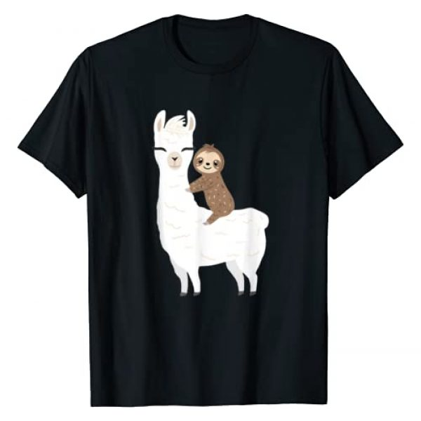 Sloth & Llama Animal Gifts Graphic Tshirt 1 Sloth Riding Llama Shirt Funny Birthday Gift Boy, Girl, kids T-Shirt