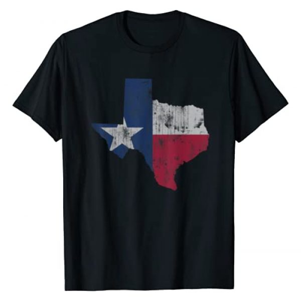 Tee Styley Graphic Tshirt 1 Retro Texas Flag Map Gift Men Women Kids T-Shirt